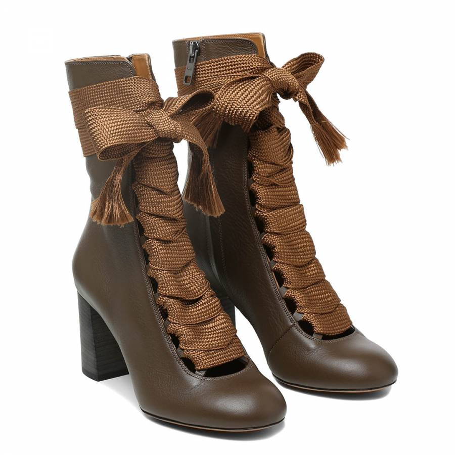 3090ae4e Brown Leather Harper Ankle Boots - BrandAlley