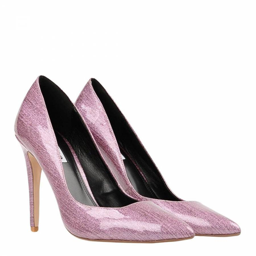 9ee6b42f38858 Pink Patent Aiyana Heel Court Shoes - BrandAlley