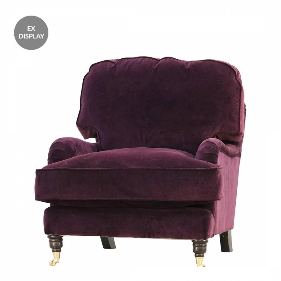 Miss Clementine Chair In Dusky Deep Purple - BrandAlley