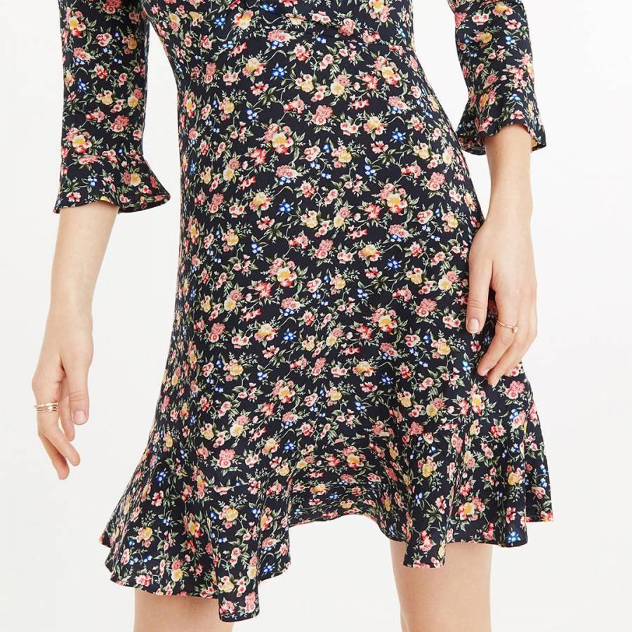 2d6ee8bb71de Multi Garden Ditsy Short Skater Dress - BrandAlley
