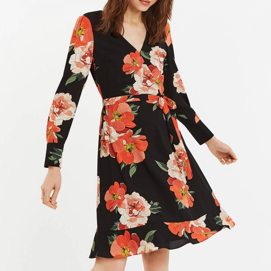 321cfd264331 Multi Bold Bloom Long Skater Dress - BrandAlley