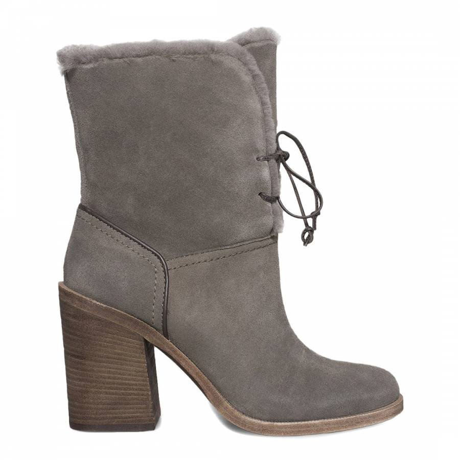 Mouse Suede Jerene Boots - BrandAlley