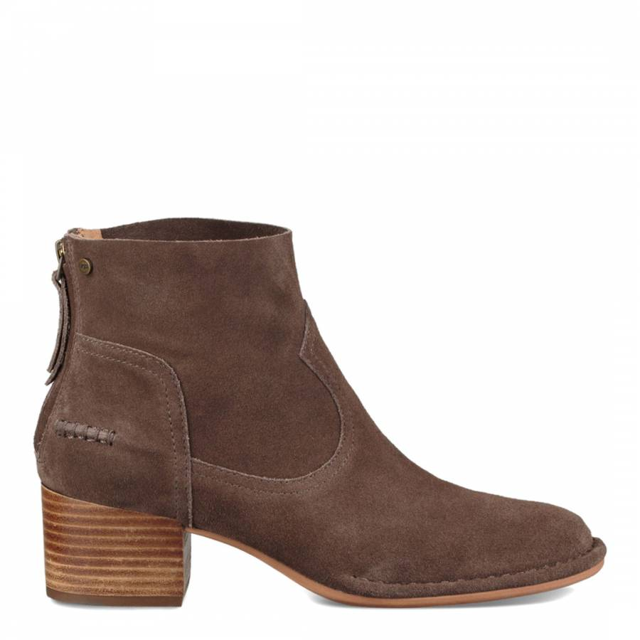 3a54913c31e Brown Suede Bandara Ankle Boots - BrandAlley