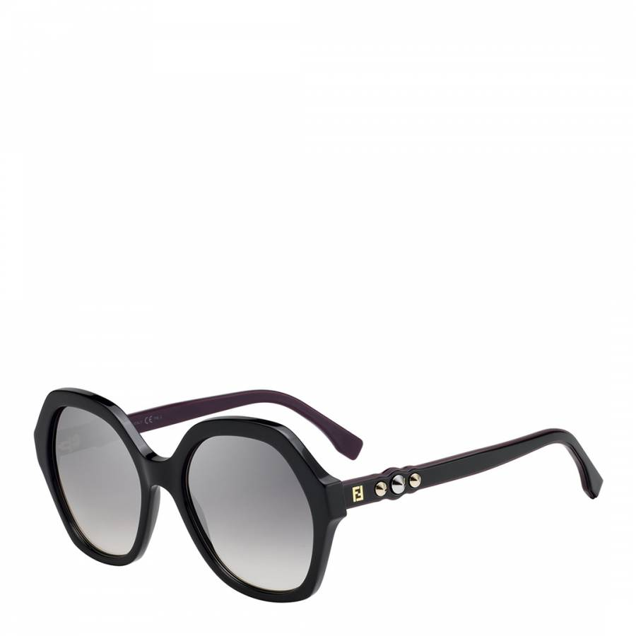 3e8d8af7ed4 Fendi Women s Black   Silver Grey Shaded Effect Sunglasses 56mm. prev.  next. Zoom