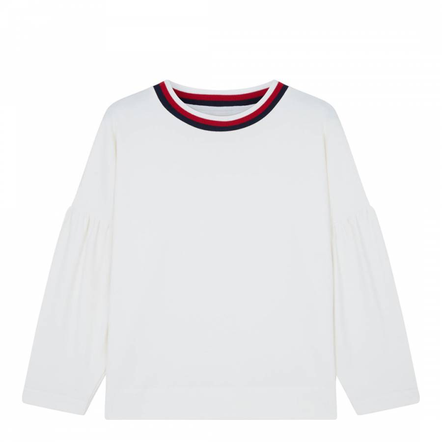 a6dbfca5 Chinti and Parker Ivory Tulip Sleeve Cotton Top