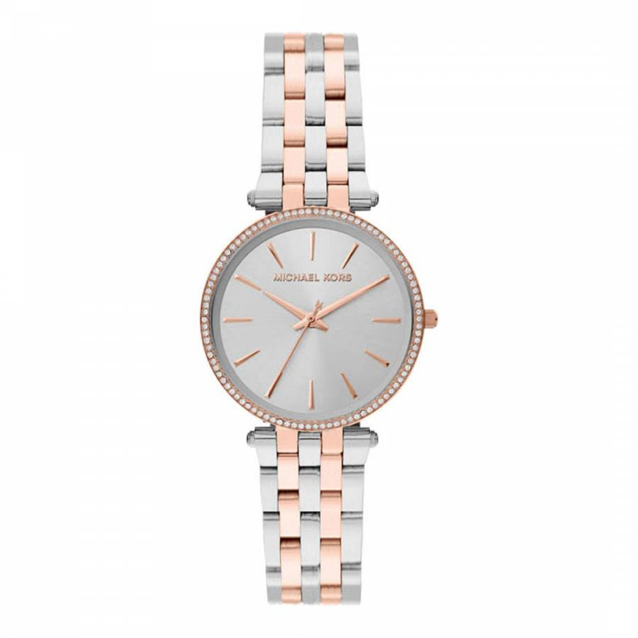 0391512b40739 Michael Kors Women s Michael Kors Silver Rose Gold Watch 26mm. prev. next.  Zoom