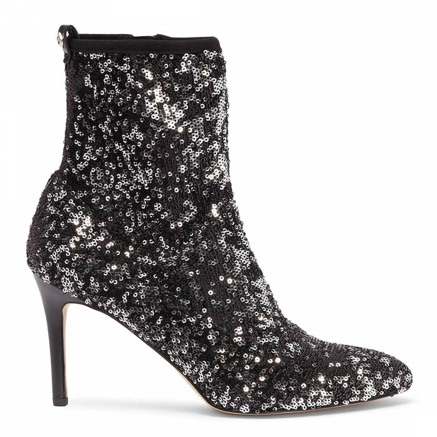c3cb90e36 Black Sequin Olson Sock Boots - BrandAlley