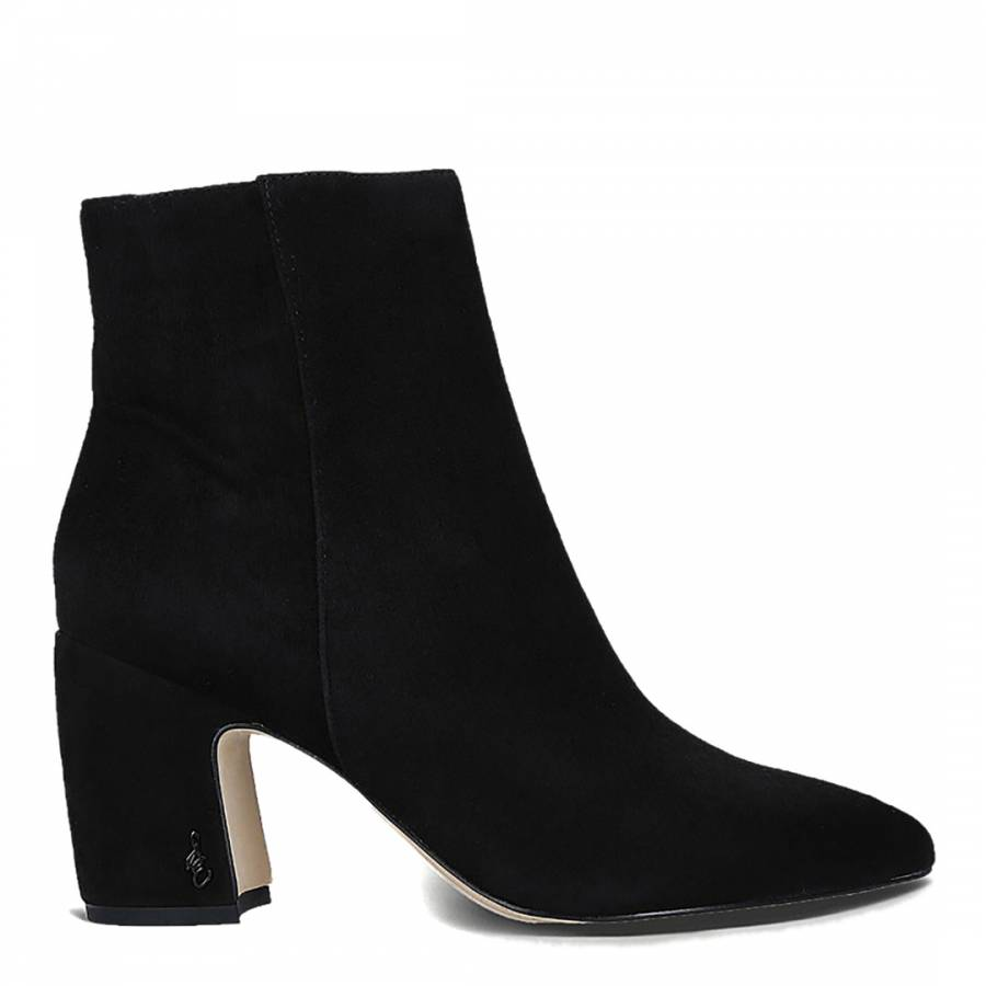 b7713a28177bed Black Suede Hilty Ankle Boots - BrandAlley