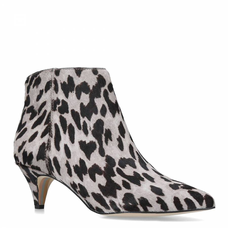 26a7826e36c35 Grey Multi Kinzey Leopard Print Ankle Boots - BrandAlley