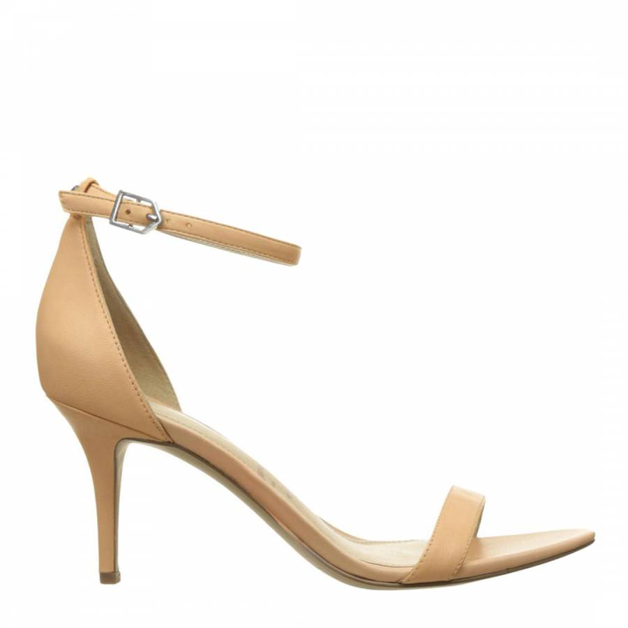 92ff2930c Nude Leather Patti Heeled Sandals - BrandAlley
