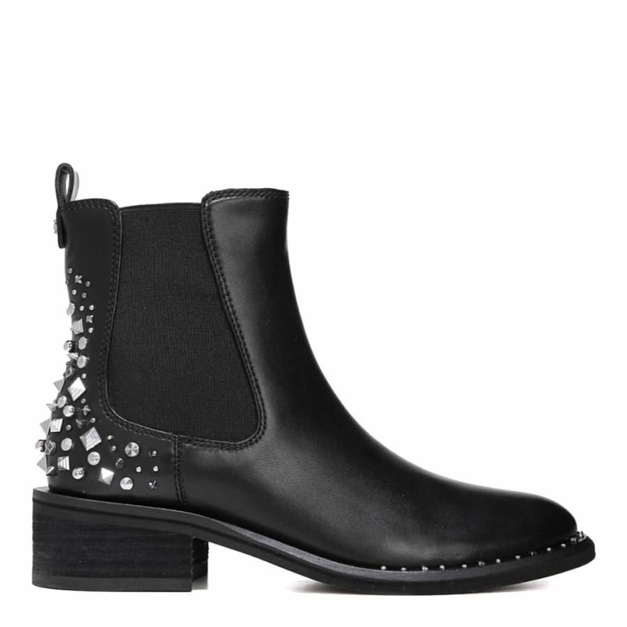 bb2149dd6d2a Black Leather Dover Modena Chelsea Boots - BrandAlley