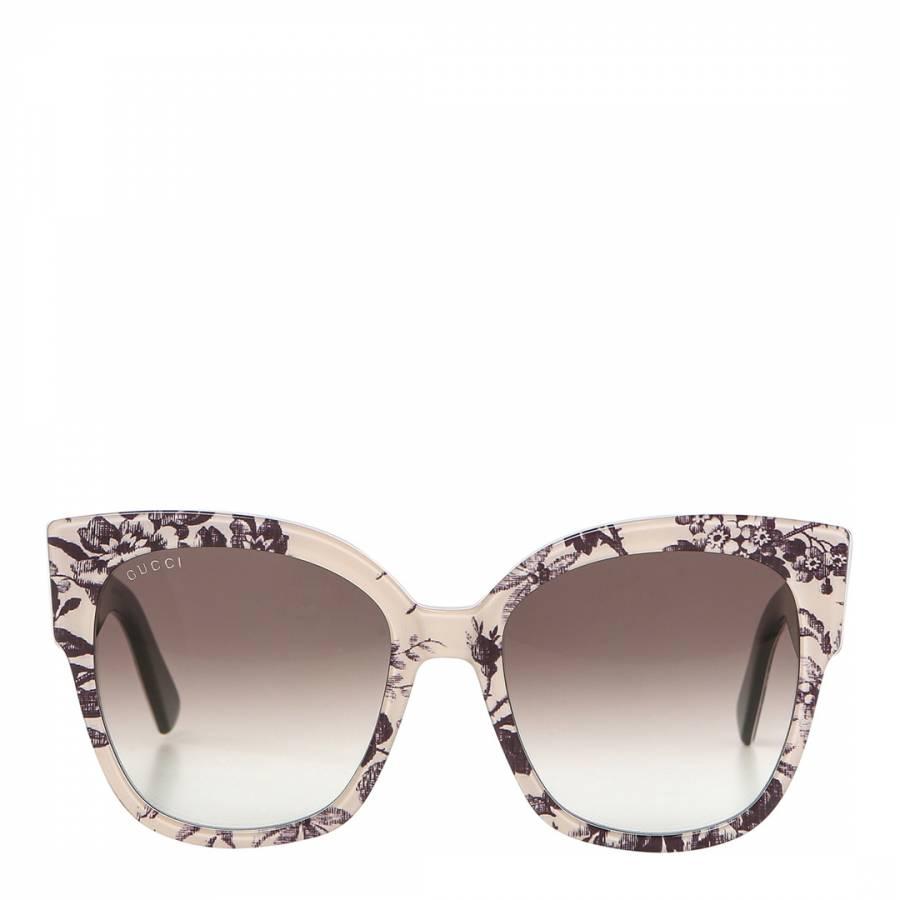 639316d7b34 Women s Pink   Grey Floral Gucci Sunglasses 55mm - BrandAlley