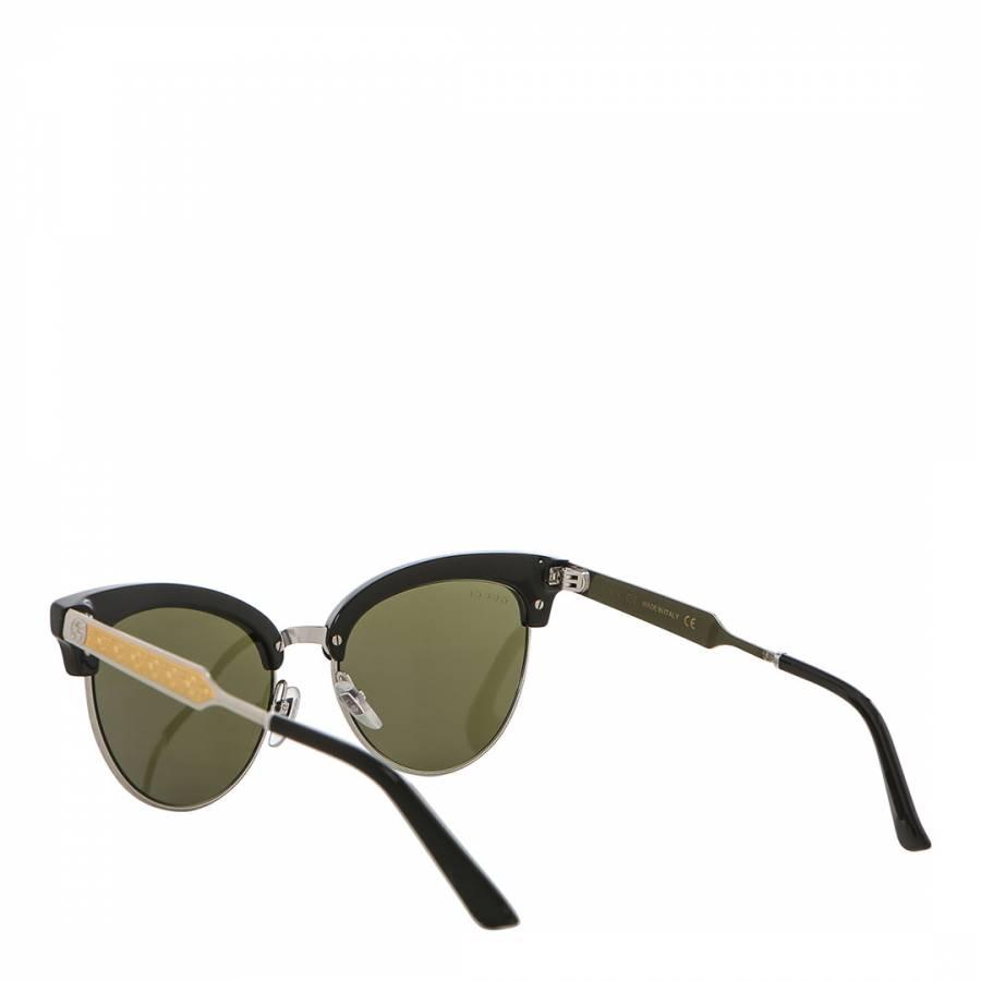 999e80f9033 Women s Black   Silver Cat Eye Gucci Sunglasses 55mm - BrandAlley