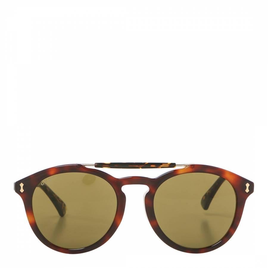 627892a94ff Men s Brown Havana Round Gucci Sunglasses 55mm - BrandAlley