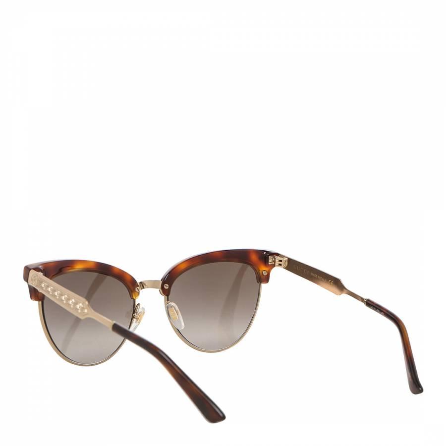 d6727b7e490 Women s Gold   Brown Cat Eye Gucci Sunglasses 55mm - BrandAlley