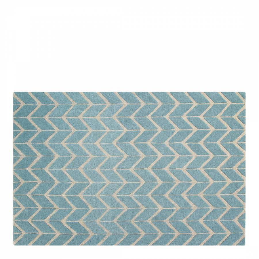 Teal Sea Waves Summer Rug 150x230cm