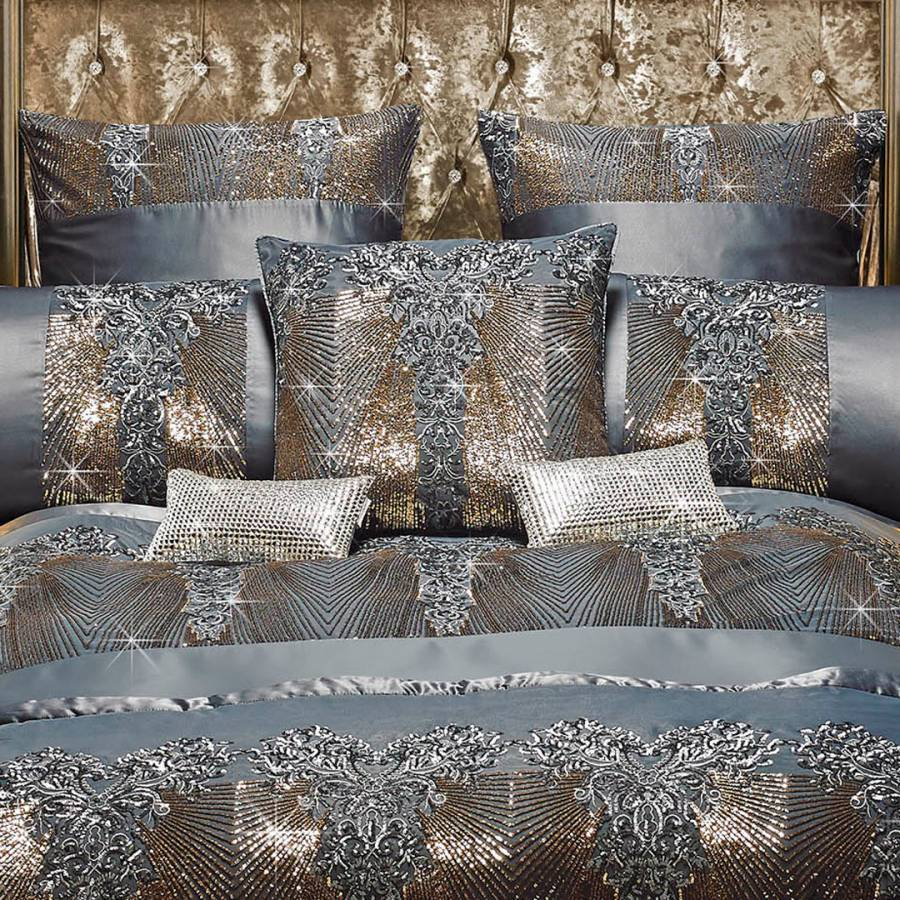 Kila Gunmetal Bedding by Kylie Minogue At Home Duvet Cover Cushion Pillowcases