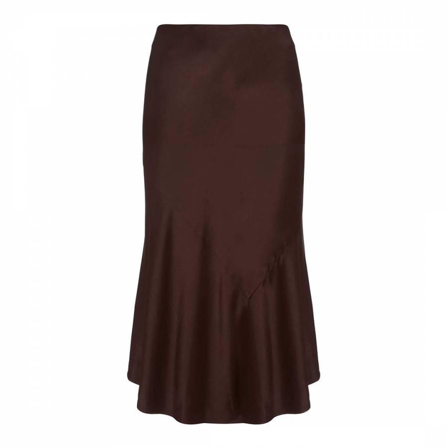 fc52724f867c Chocolate Satin Skirt - BrandAlley