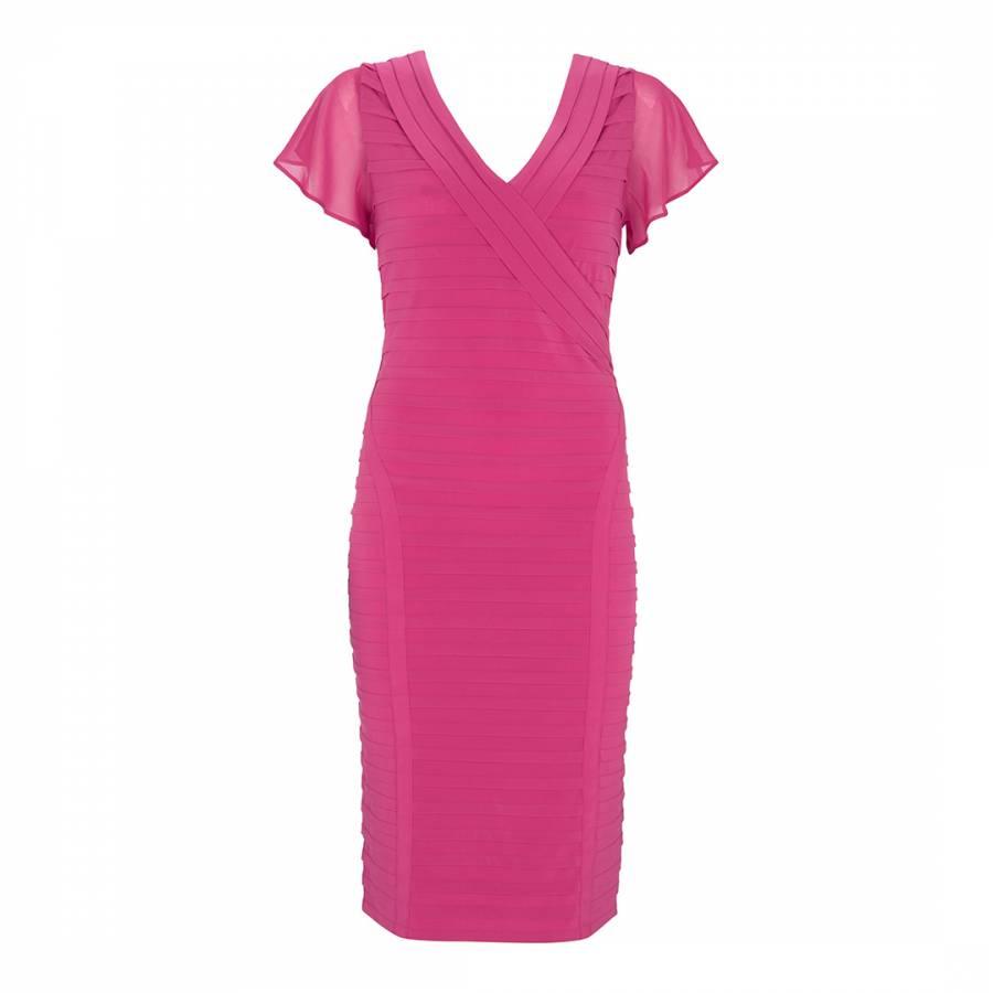 89d84f0d88441 Cerise Pink Panelled Bandage Dress - BrandAlley