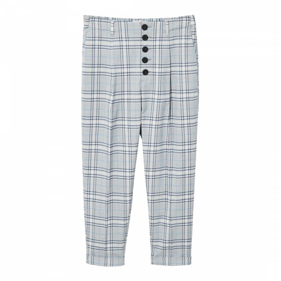 49f247196c7 Blue Check Suit Trousers - BrandAlley