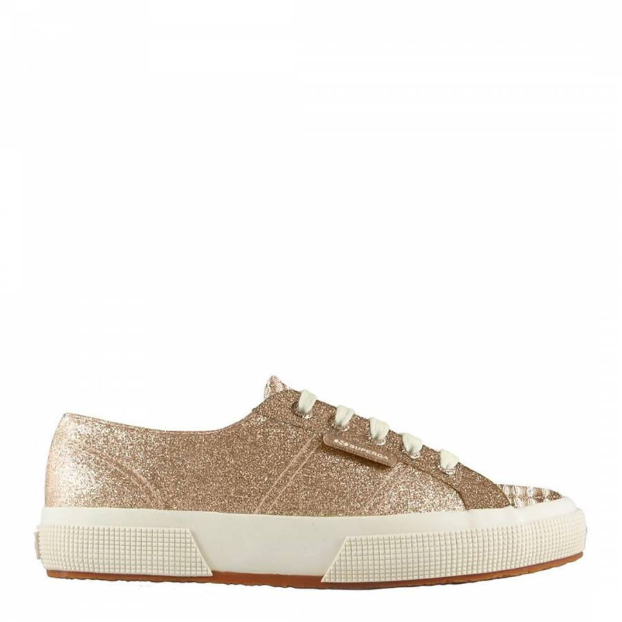 f4afef93af154 Rose Gold 2750 MicroGlitter Sneakers - BrandAlley