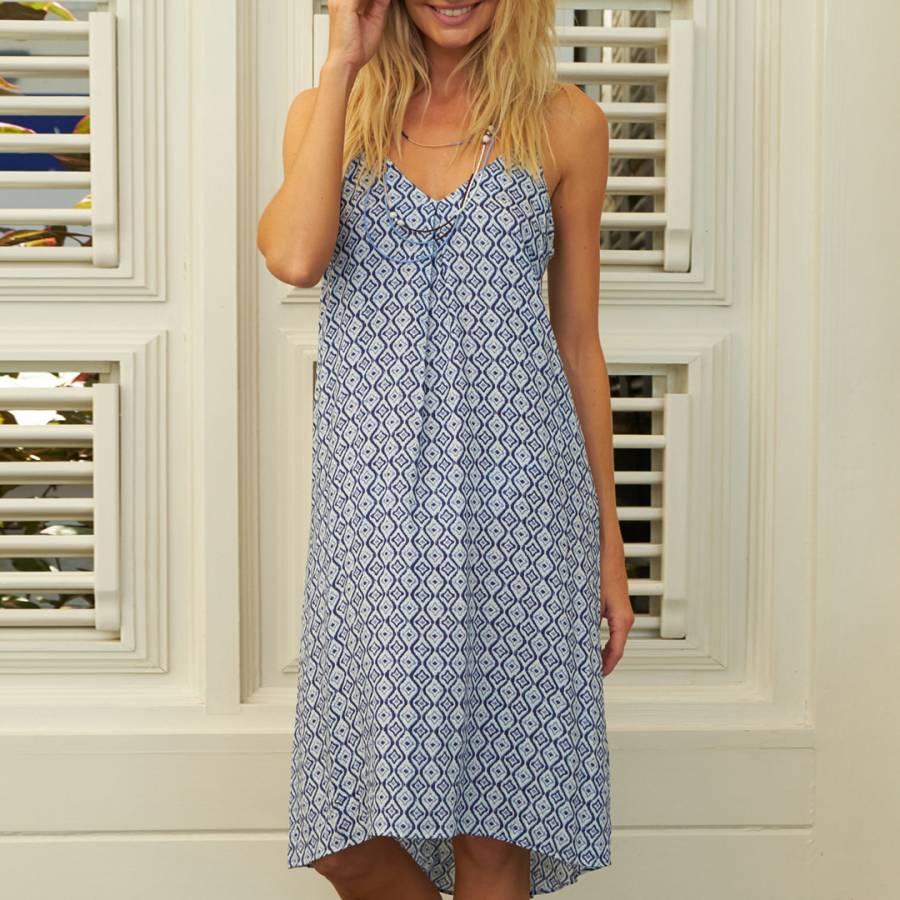 a766fb76b33 Zoom · Aspiga Turquoise White Sacha Dress
