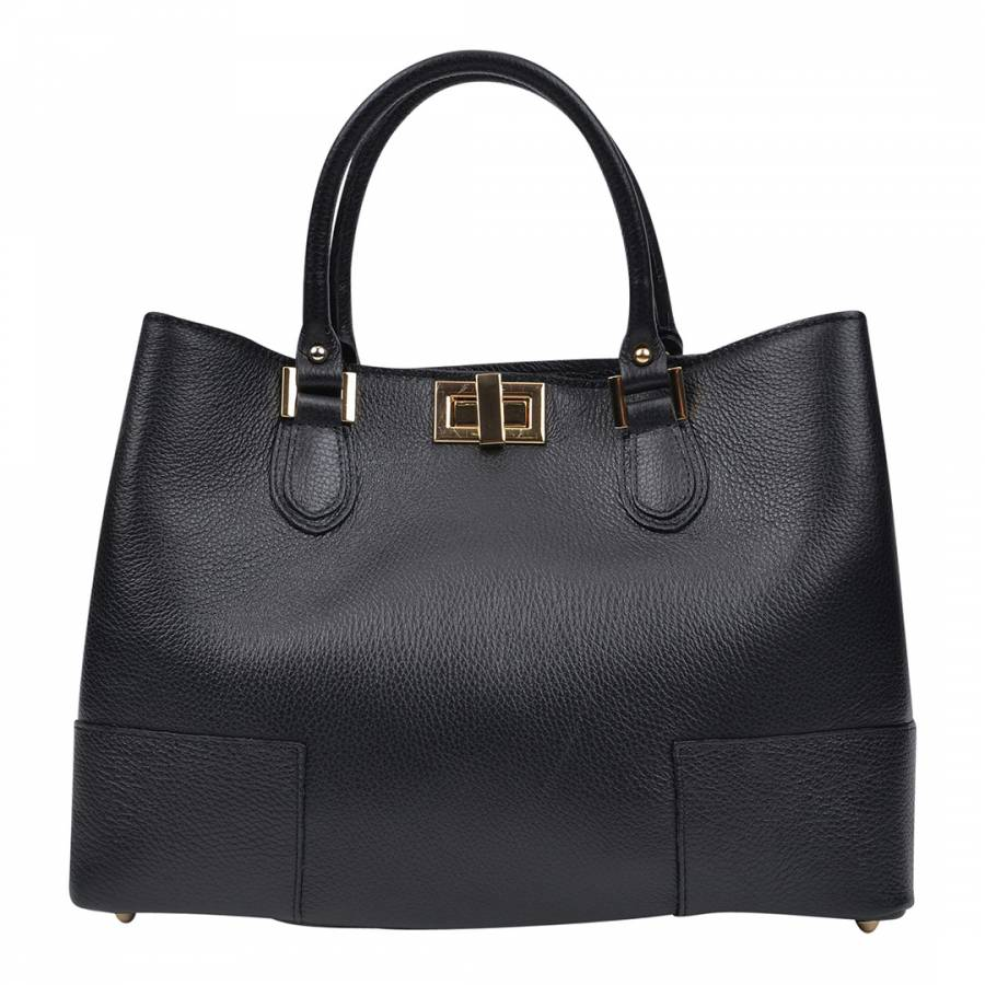 72203a6fdbf Black Leather Tote Bag