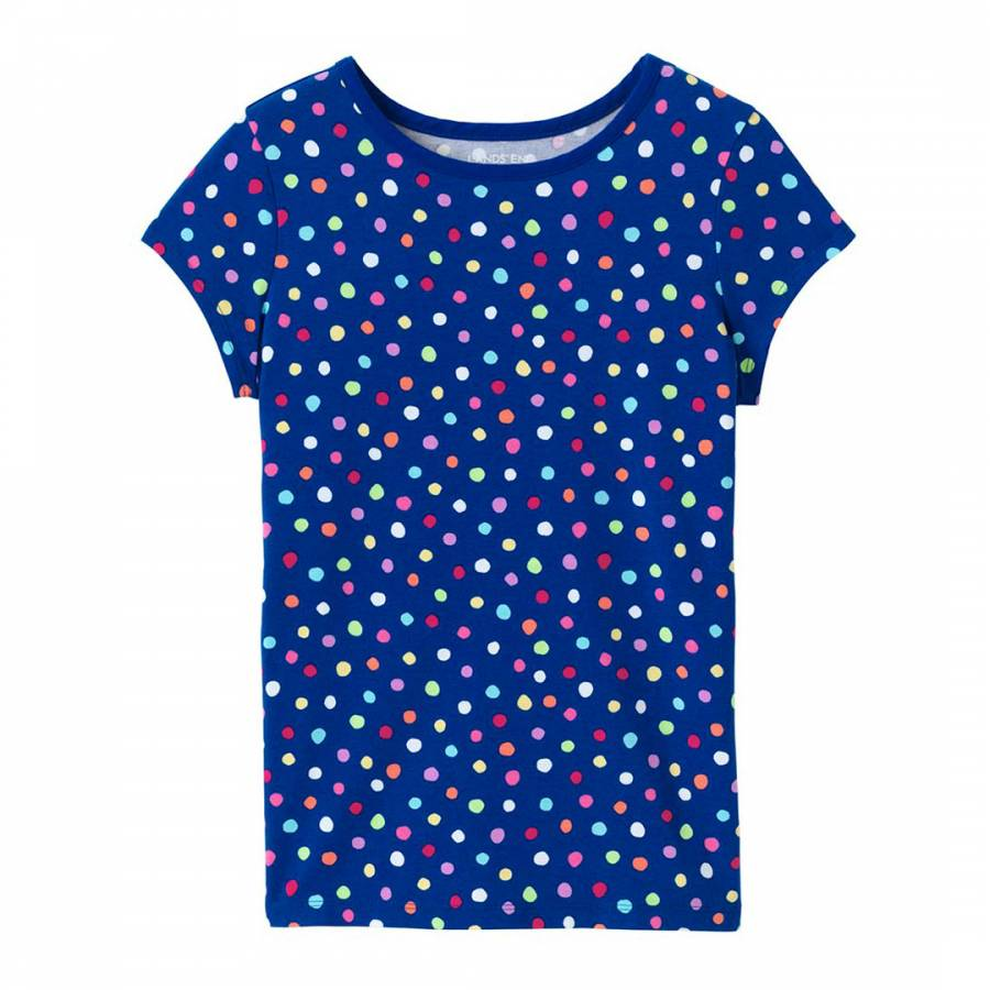 25085535ef25 Toddler Girls Multi Dot Crew T Shirt - BrandAlley
