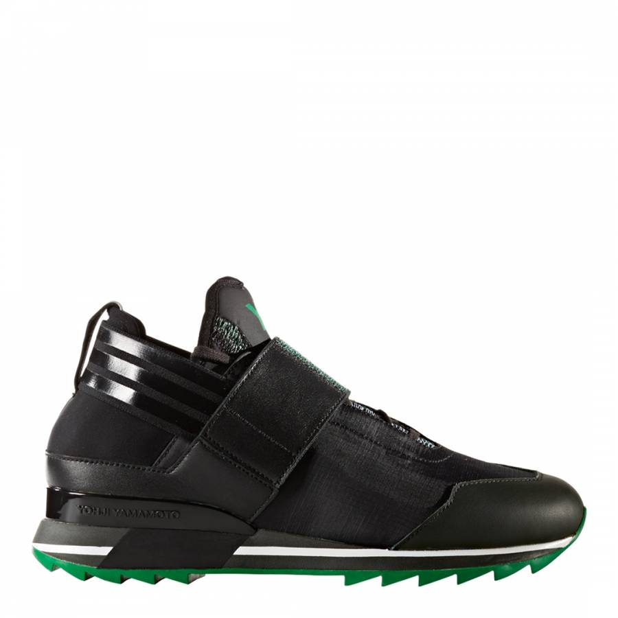 buy online 22451 32282 adidas Y-3 Black   Green Luminous Y-3 Qasa Elle Lace Sneakers