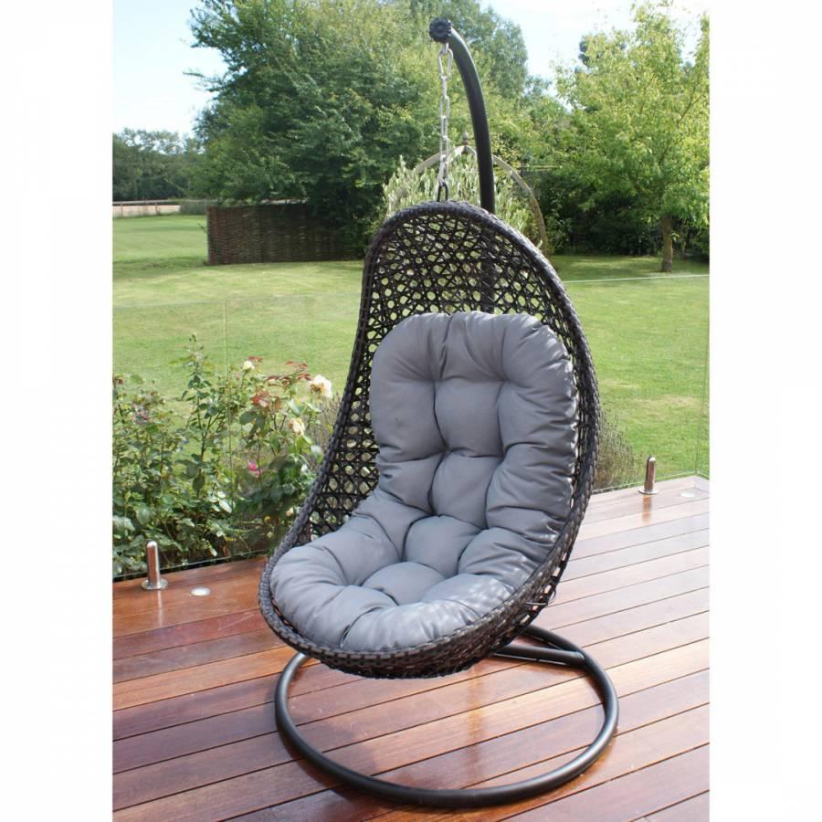 Malibu Hanging Chair Grey Brandalley