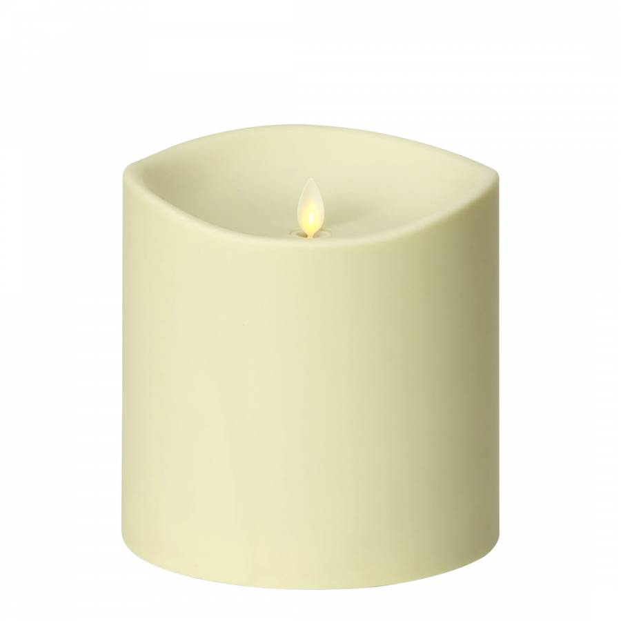 Image of Giant Weather Resistant Soft Touch Pillar Candle Ivory- 17cm