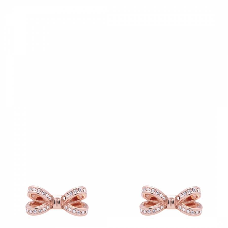 6a52e8468 Ted Baker. Rose Gold Olitta Mini Opulent Pave Bow Earrings