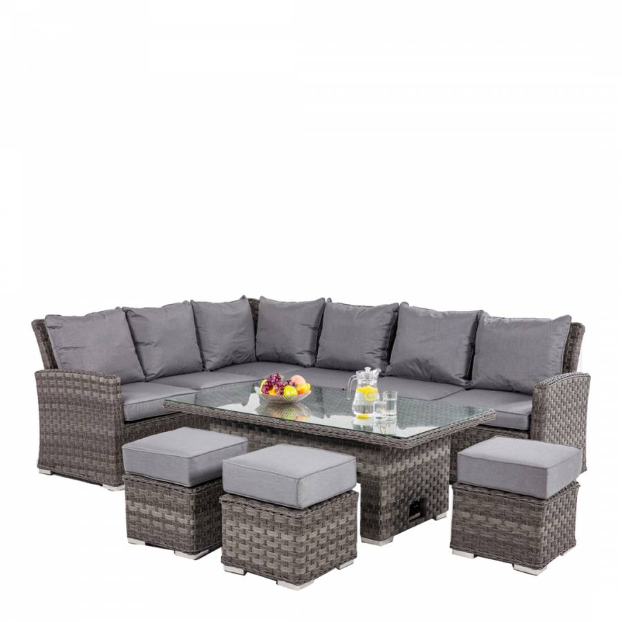 Victoria Corner Dining Set With Rising Table Brandalley