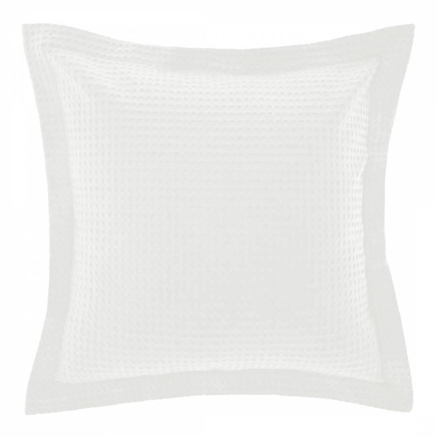 Image of Deluxe Waffle Large Square Pillowcase White