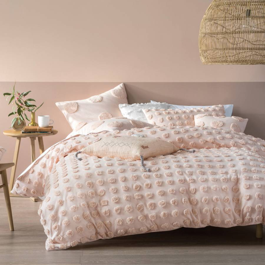Image of Haze Single Duvet Cover Set Peach