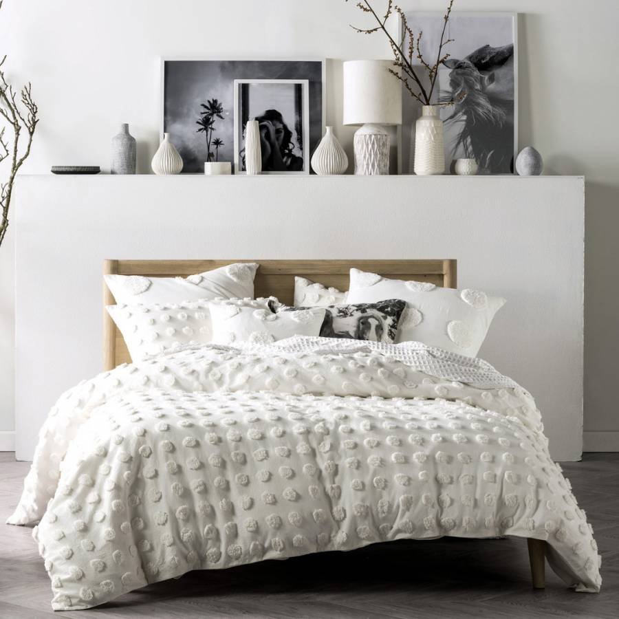 Image of Haze Super King Duvet Cover Set White