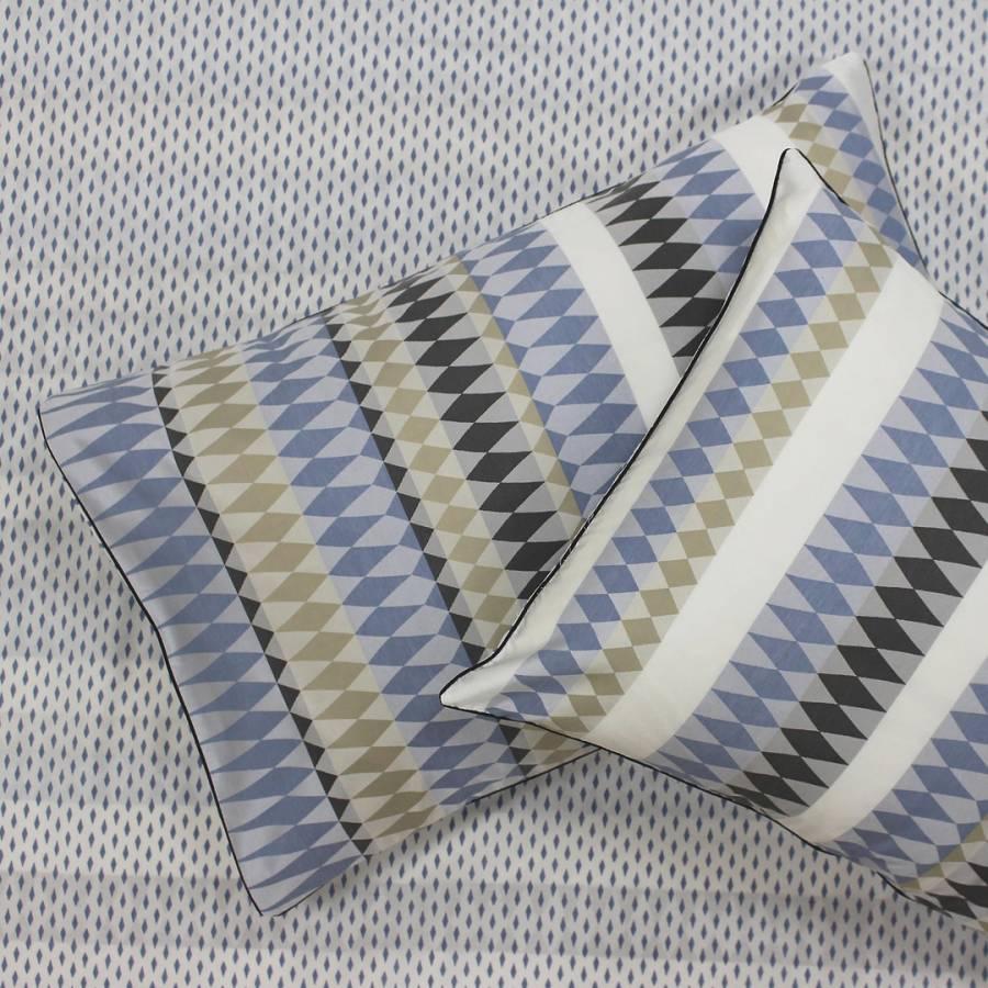 Image of Northbrook Pair of Pillowcases Indigo