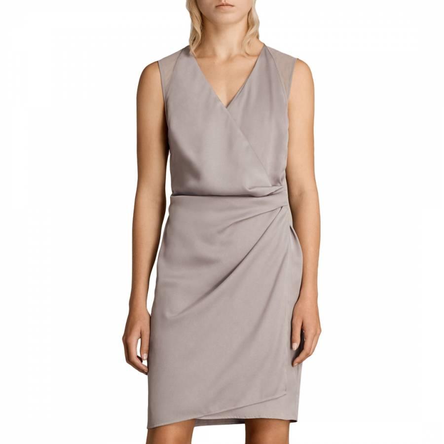 Silver Grey Pink Anika Dress BrandAlley