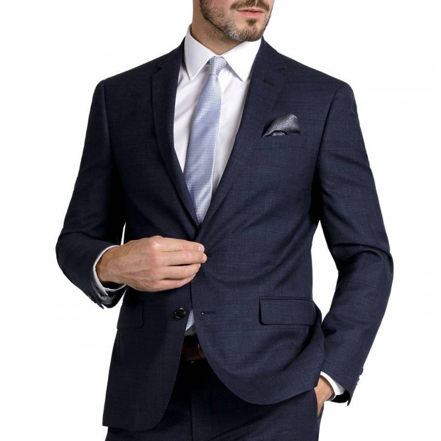 Navy Tailored Wool Jacket Brandalley