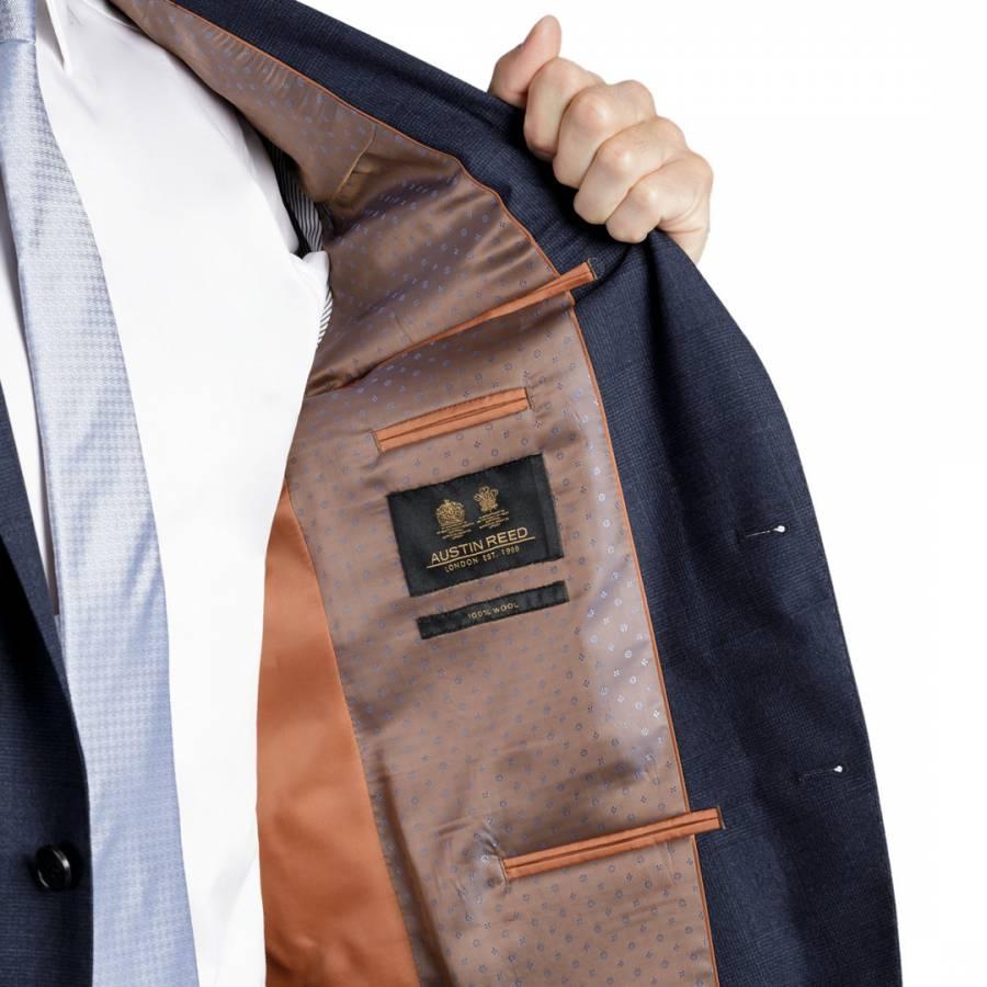 Navy Tailored Wool Jacket Brandalley