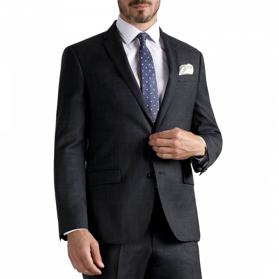 Charcoal Tailored Fit Wool Jacket Brandalley
