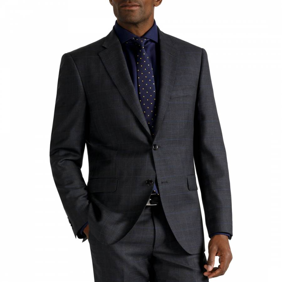 Charcoal Classic Fit Wool Jacket Brandalley