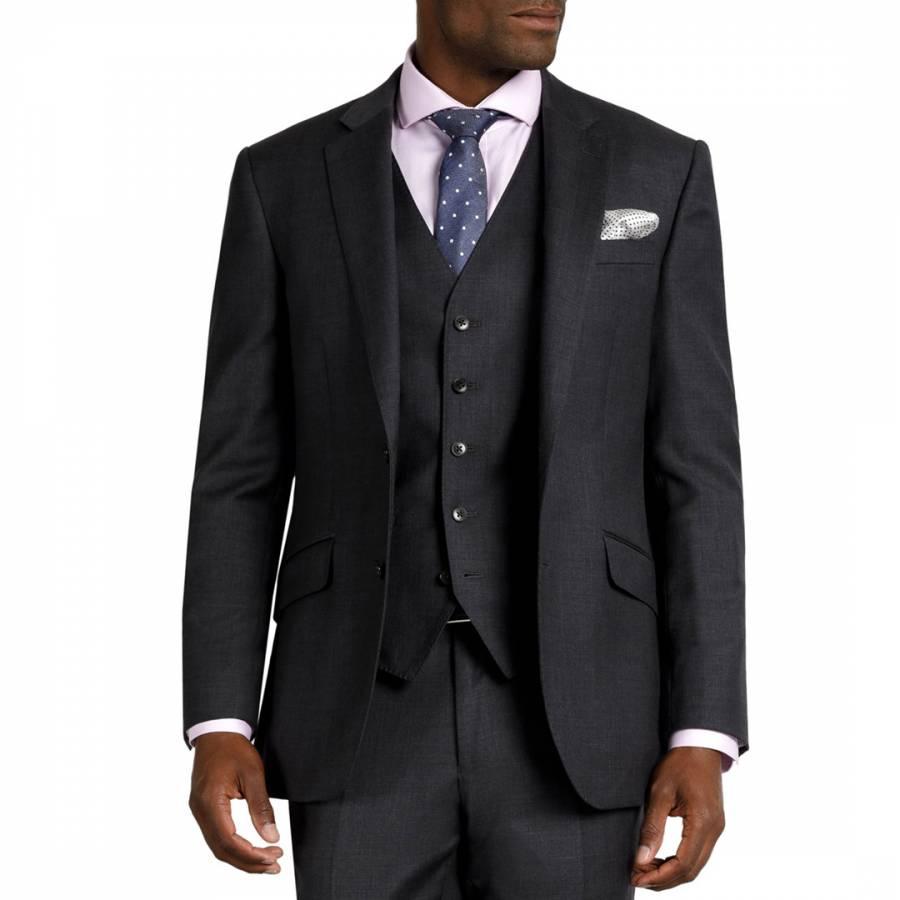 Grey Regular Wool Jacket Brandalley