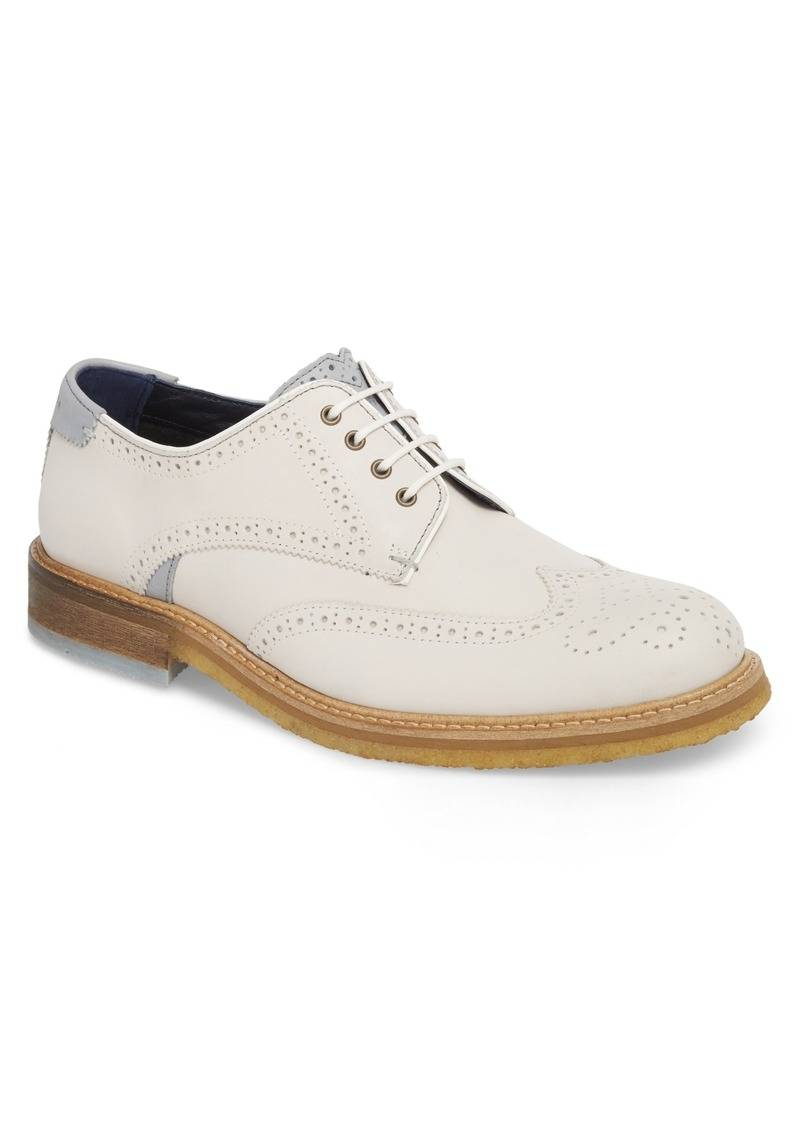 check out watch a few days away White Leather Prycce Derby Shoe - BrandAlley