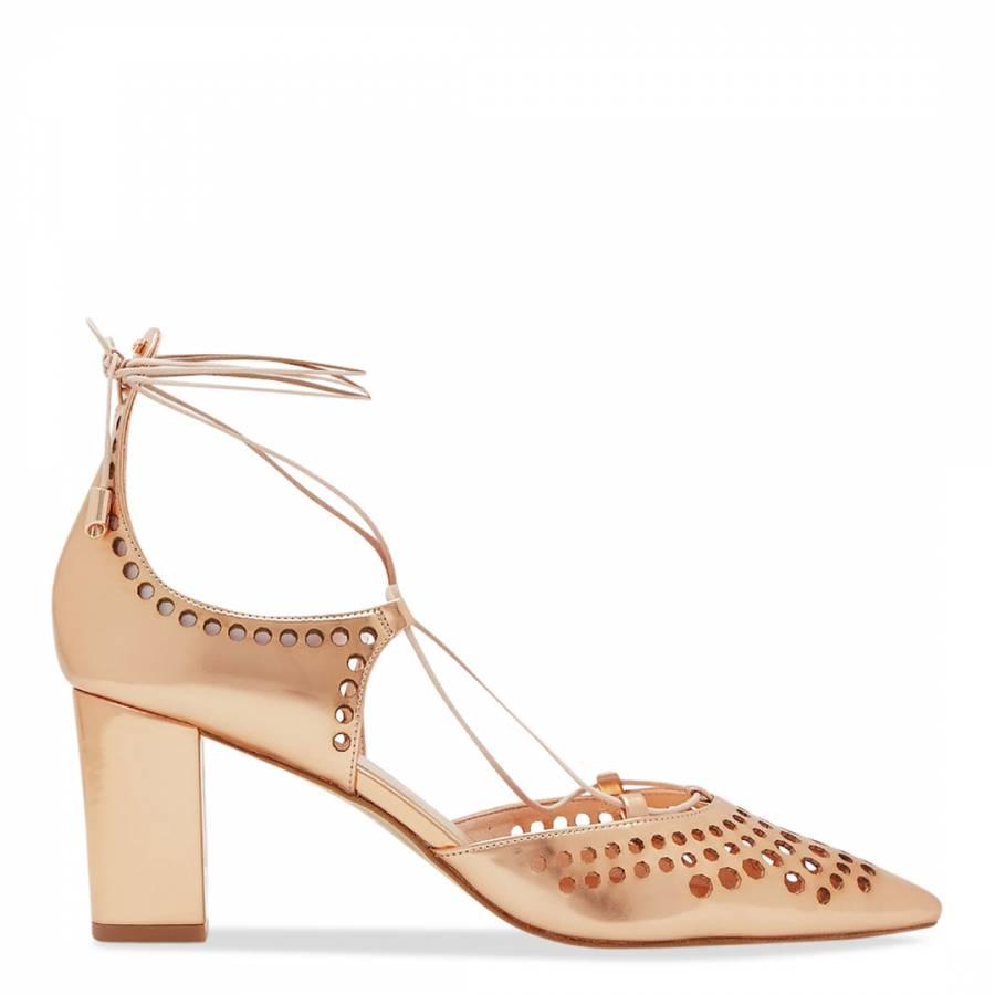 Rose Gold Metallic Heeled Sandal