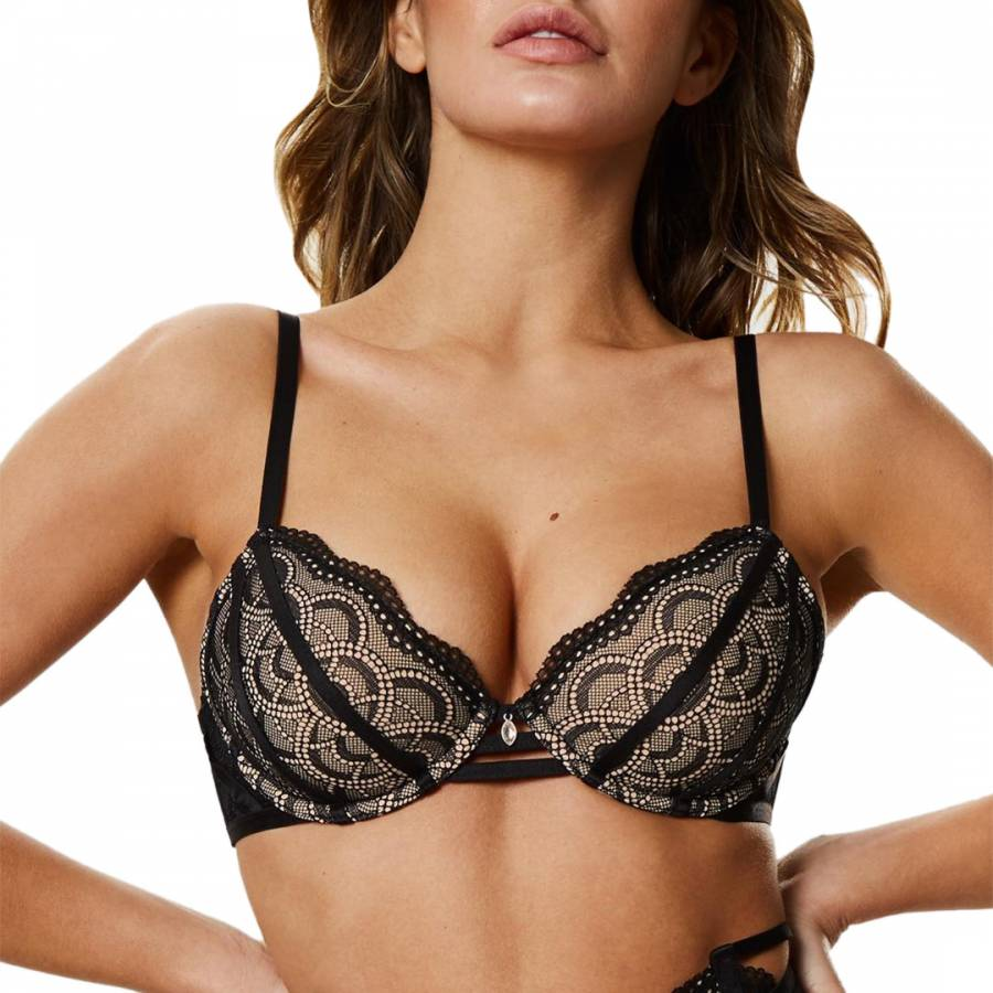 500338573 Black Grace Open Cup Bra - BrandAlley