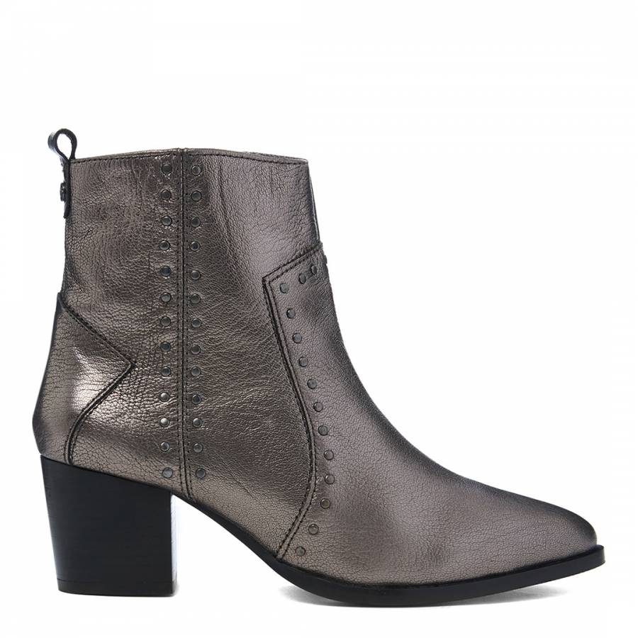 choose latest perfect quality discount price Pewter Posie Stud Detail Ankle Boot - BrandAlley