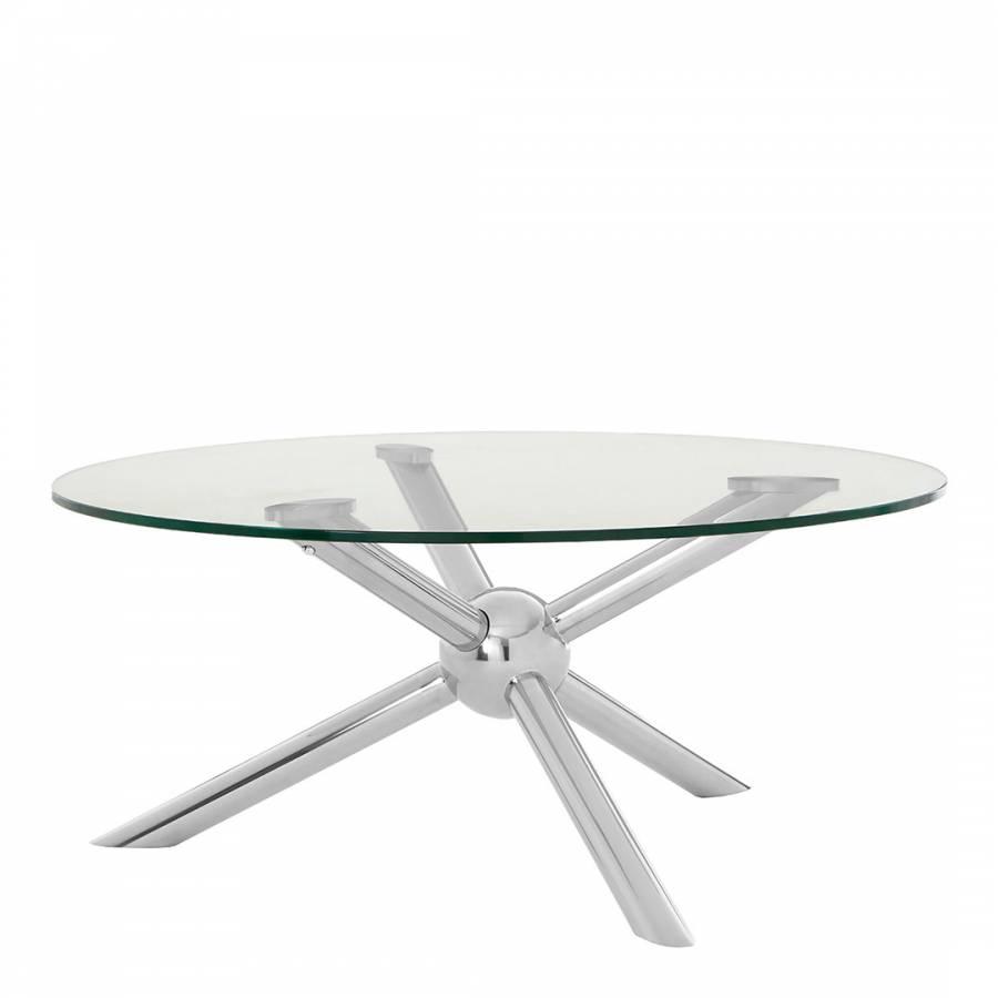 Novo Round / Silver Coffee Table