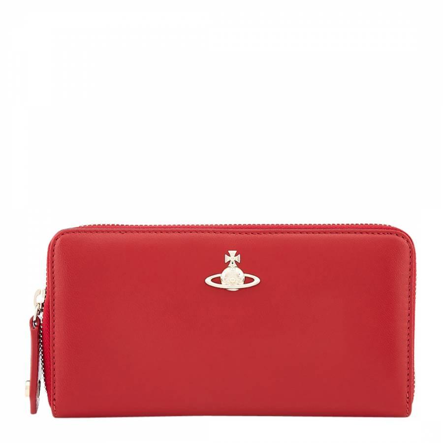 18de3fc148c Vivienne Westwood Red Emma Classic Zip Round Wallet