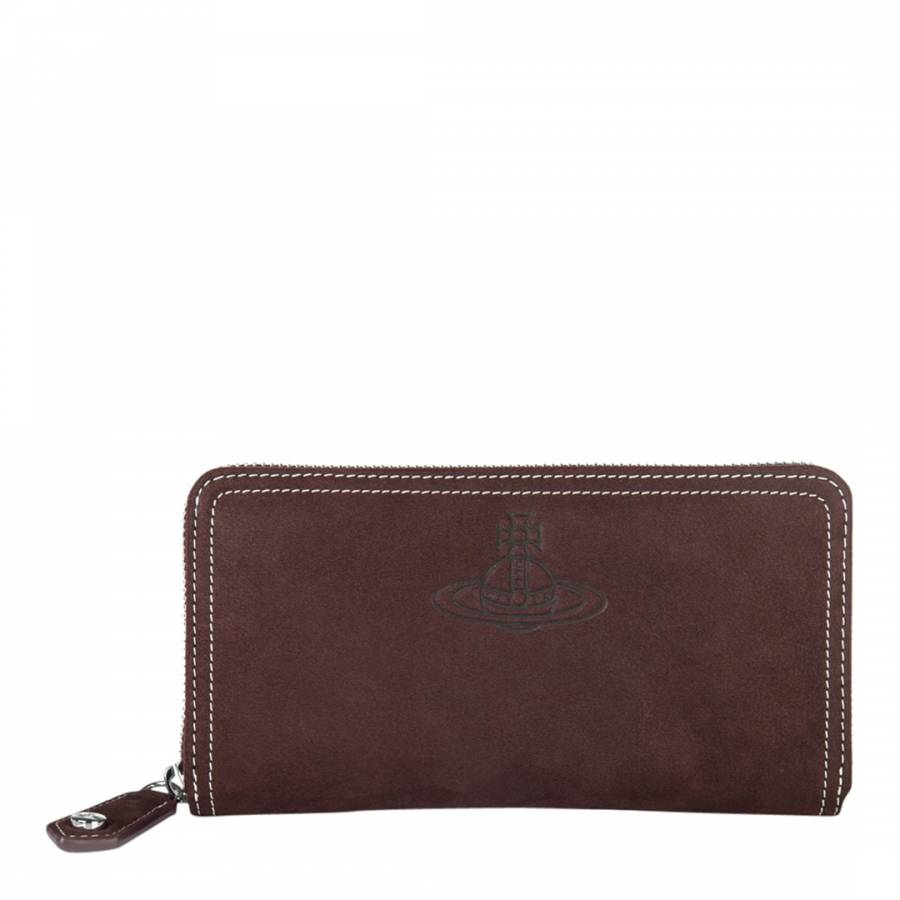 3c93be56c9d Vivienne Westwood Burgundy Yasmine Classic Zip Round Wallet